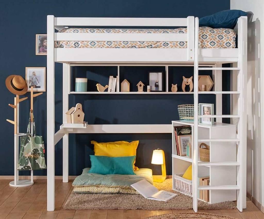 lit mezzanine pour aménager une petite chambre d'enfant